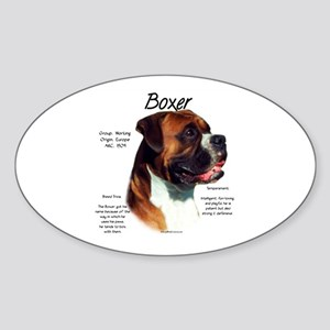 Boxer (natural) Sticker (Oval)