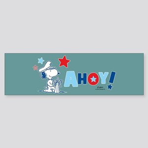 Snoopy AHOY Full Bleed Bumper Sticker