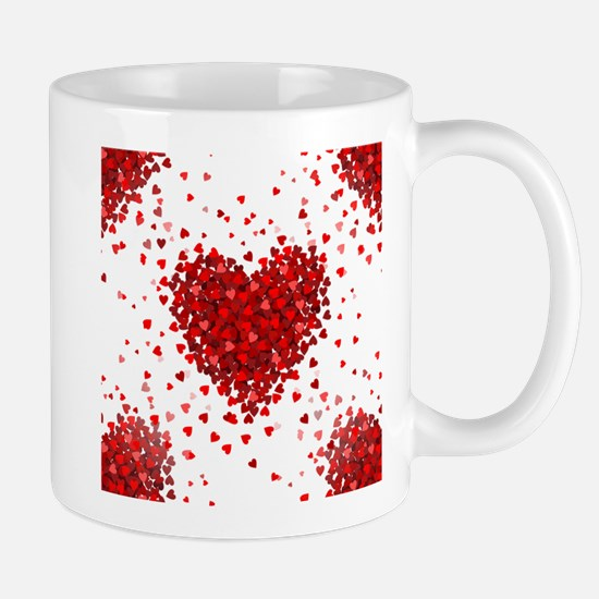 happy valentines day hearts Mugs