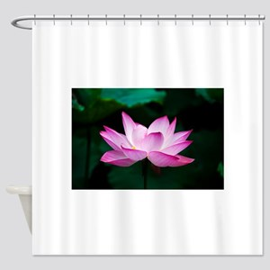 Indian Lotus Flower Shower Curtain