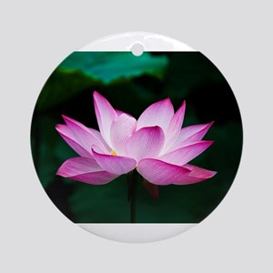 Indian Lotus Flower Round Ornament