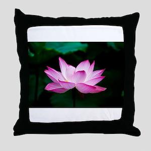 Indian Lotus Flower Throw Pillow
