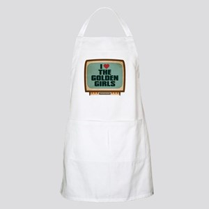 Retro I Heart The Golden Girls Apron