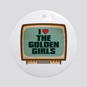 Retro I Heart The Golden Girls Round Ornament