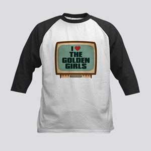 Retro I Heart The Golden Girls Kids Baseball Jerse
