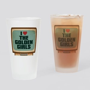 Retro I Heart The Golden Girls Drinking Glass