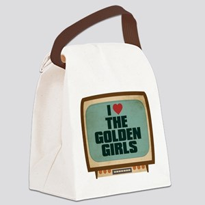 Retro I Heart The Golden Girls Canvas Lunch Bag