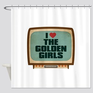 Retro I Heart The Golden Girls Shower Curtain