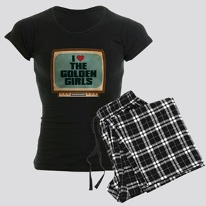 Retro I Heart The Golden Girls Women's Dark Pajama