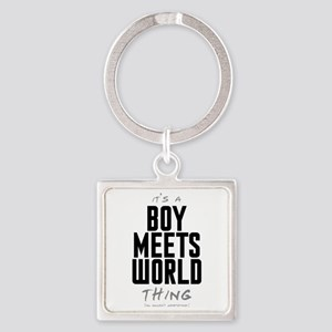 It's a Boy Meets World Thing Square Keychain
