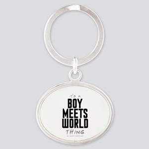 It's a Boy Meets World Thing Oval Keychain