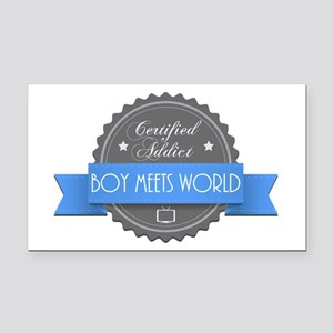 Certified Boy Meets World Addict Rectangle Car Mag