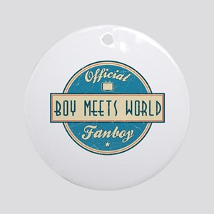 Official Boy Meets World Fanboy Round Ornament