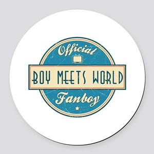 Official Boy Meets World Fanboy Round Car Magnet
