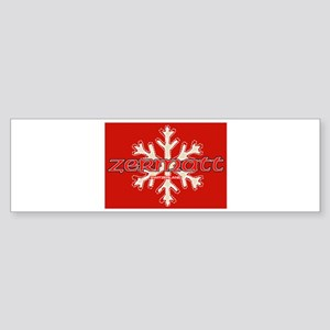 red snow Bumper Sticker