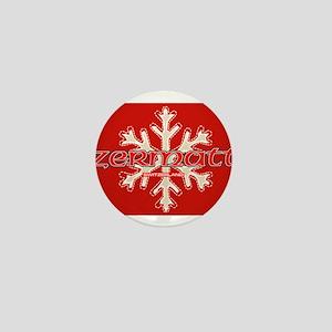 red snow Mini Button