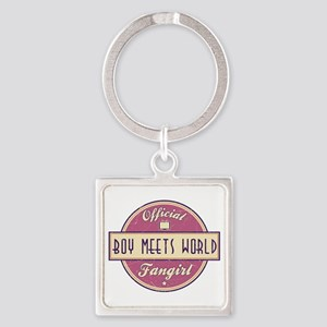 Official Boy Meets World Fangirl Square Keychain
