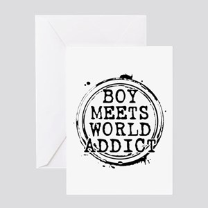 Boy Meets World Addict Stamp Greeting Card