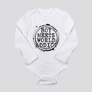 Boy Meets World Addict Stamp Long Sleeve Infant Bo