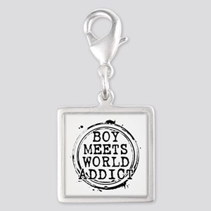 Boy Meets World Addict Stamp Silver Square Charm