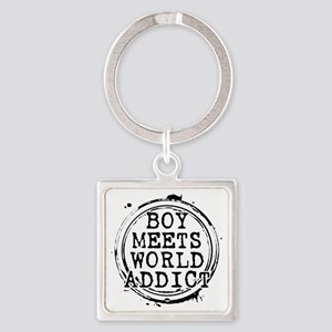 Boy Meets World Addict Stamp Square Keychain