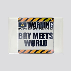 Warning: Boy Meets World Rectangle Magnet
