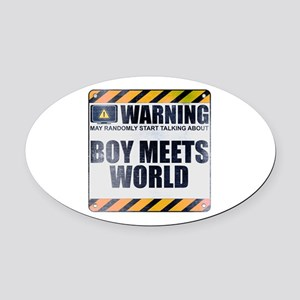 Warning: Boy Meets World Oval Car Magnet