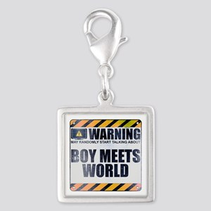Warning: Boy Meets World Silver Square Charm
