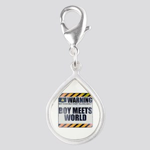 Warning: Boy Meets World Silver Teardrop Charm