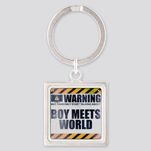 Warning: Boy Meets World Square Keychain