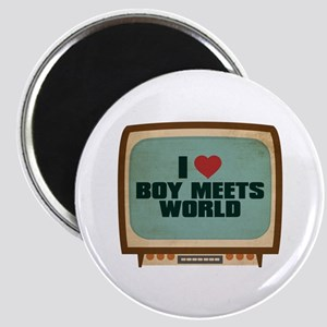 Retro I Heart Boy Meets World Magnet