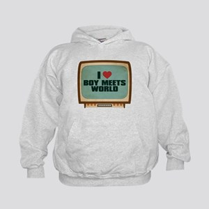 Retro I Heart Boy Meets World Kid's Hoodie