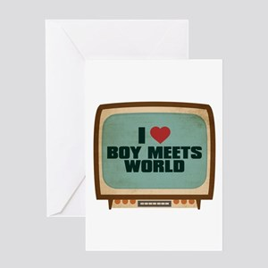Retro I Heart Boy Meets World Greeting Card