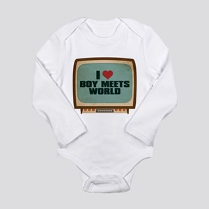 Retro I Heart Boy Meets World Long Sleeve Infant B