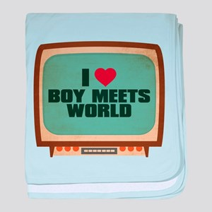 Retro I Heart Boy Meets World Infant Blanket