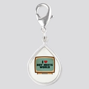 Retro I Heart Boy Meets World Silver Teardrop Char