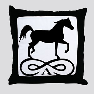 Infinity Arabian Horse Throw Pillow