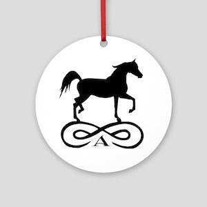 Infinity Arabian Horse Ornament (Round)