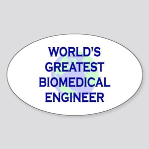 World's Greatest Biomedical E Oval Sticker