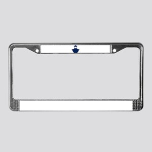 Center Console Fishing Boat License Plate Frame
