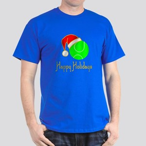 TennisChick Happy Holidays II Dark T-Shirt