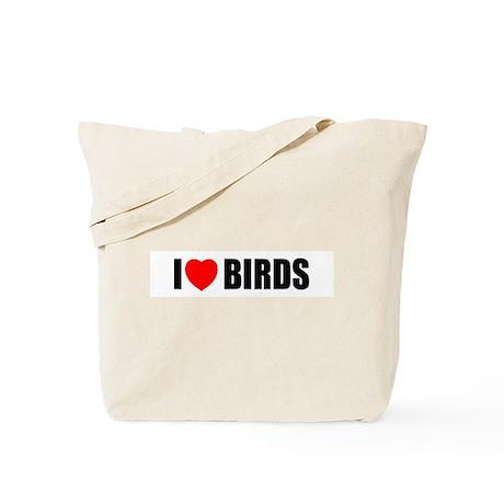 I Love Birds Tote Bag