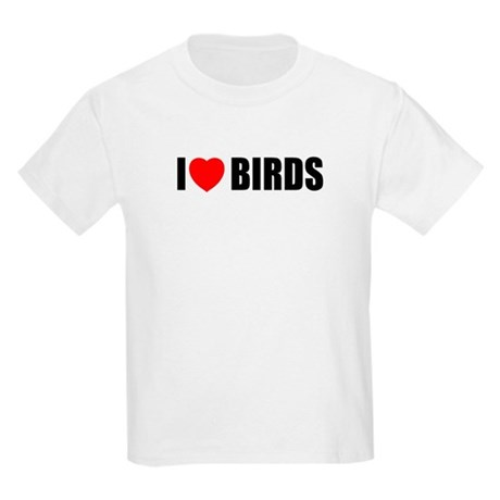 I Love Birds Kids Light T-Shirt