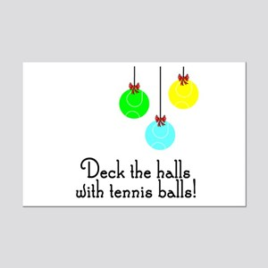 TennisChick Deck the Halls Mini Poster Print