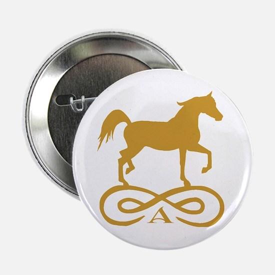 "Gold Infinity Arabian 2.25"" Button"