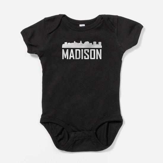Skyline of Madison WI Baby Bodysuit