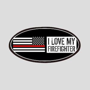 Firefighter: I Love My Firefighter (Black Fl Patch