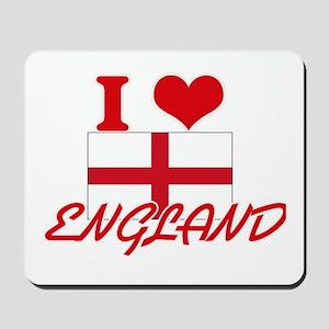 I Love England Mousepad