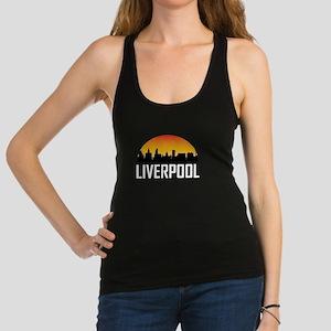Sunset Skyline of Liverpool England Racerback Tank