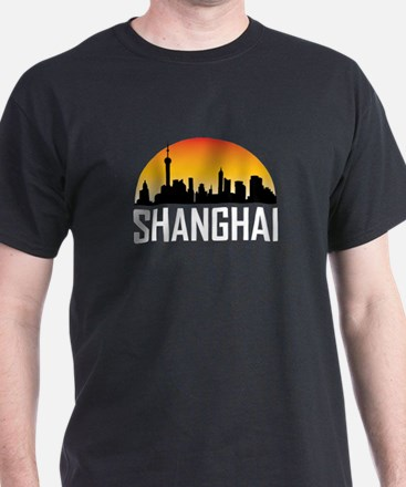 Sunset Skyline of Shanghai China T-Shirt